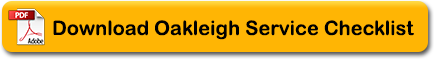 Oakleigh Garage Services Chesham - Service CheckList